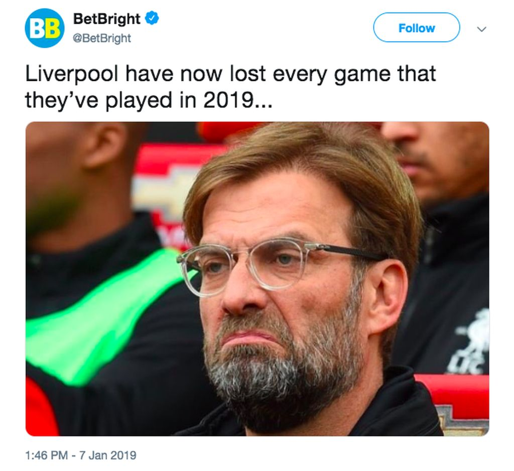 Liverpool berarti kalah terus di tahun 2019, melawan City dan kemudian Wolves. Foto: istimewa