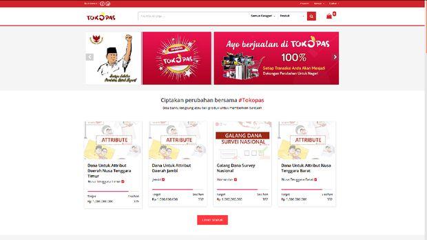 Timses Buat OL Shop untuk Donasi Kampanye Prabowo-Sandiaga