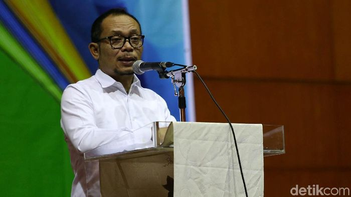 Plt Menpora Hanif Dhakiri (Agung Pambudhy/detikSport)
