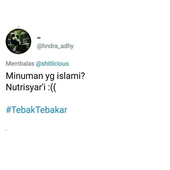 Berawal dari cuitan pemilik akun @shitlicious soal tebak-tebakan ngaco, netizen mulai banyak yang membalas. Beberapa diantaranya menggunakan makanan sebagai bahan candaan. Foto: Twitter