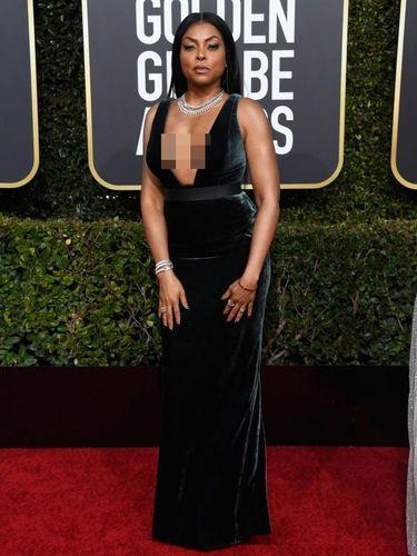 Penampilan Taraji P. Henson di Golden Globes 2019.