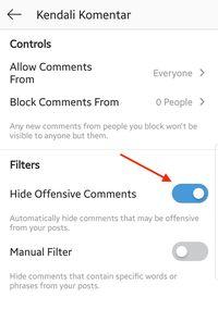 Yuk Atur Filter Komentar Instagram