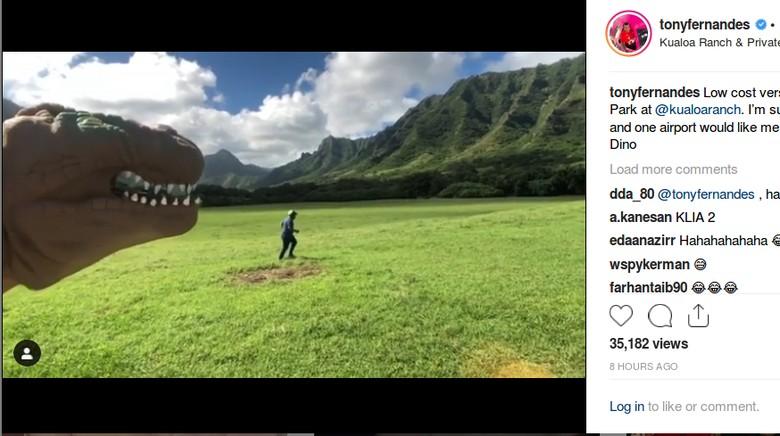 Aksi kocak Tony Fernandes di Hawaii (tonyfernandes/Instagram)