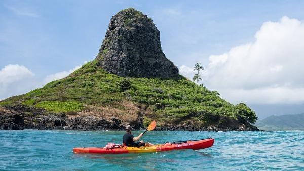 Kalau dari Honolulu, jaraknya sekitar 38 kilometer menuju Kualoa Ranch (Kualoa Ranch)
