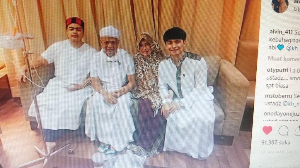 Arie Untung Puji Ustad Arifin Ilham yang Tetap Senyum Meski Sakit