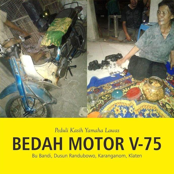 Restorasi Motor Bebek Jadul Yamaha V75 Jadi Baru Lagi