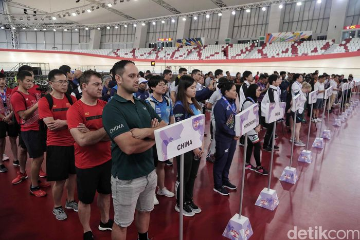 Pembukaan Asian Track Cycling Championships 2019 berlangsung di Velodrome, Rawamangun, Jakarta Timur, Selasa (8/7/2019) malam.