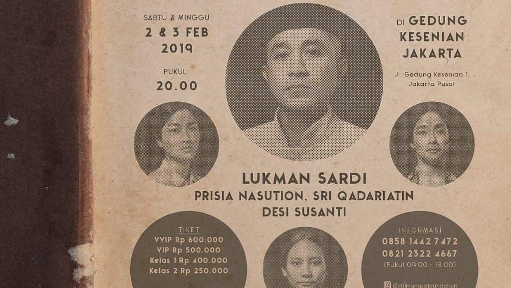 Tiket Nyanyi Sunyi Revolusi Mulai Dijual, Harganya Mulai Rp 250 Ribu