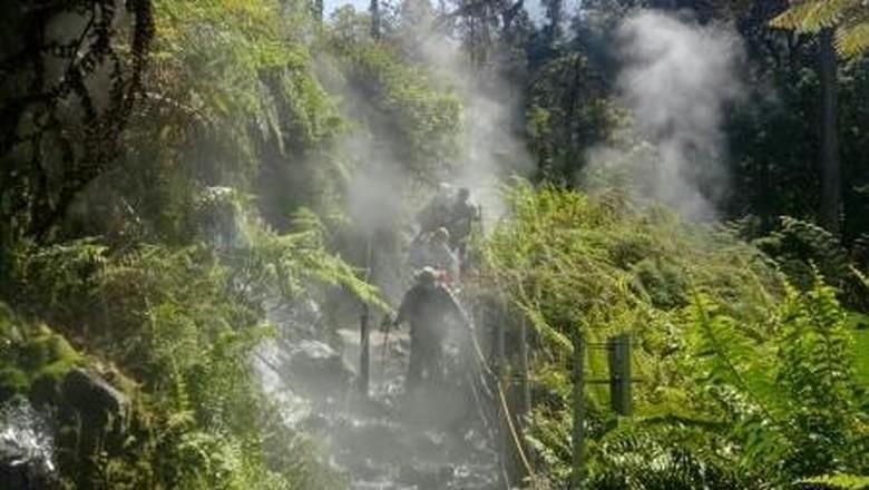 Pos Air Panas Gunung Gede Pangrango (Foto: Siti Maryati/dTraveler)