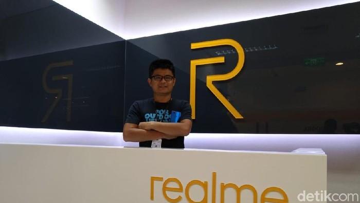 Marketing Director Realme SEA Josef Wang menyebut Indonesia sebagai pasar terbesar kedua Realme di dunia. (Foto: detikINET/Muhamad Imron Rosyadi)