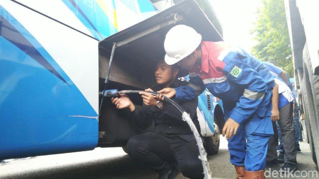 Bus Trans Semarang Kini Bertenaga Gas dari Jepang