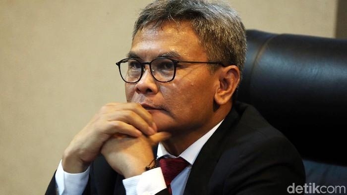 Diskusi bertajuk Pelayanan Rakyat Bebas dari Korupsi digelar di Gedung Bina Graha, Gambir, Jakarta Pusat, Rabu (9/1/2019). Mantan Ketua KPK, Antasari Azhar menjadi pembicara diskusi.