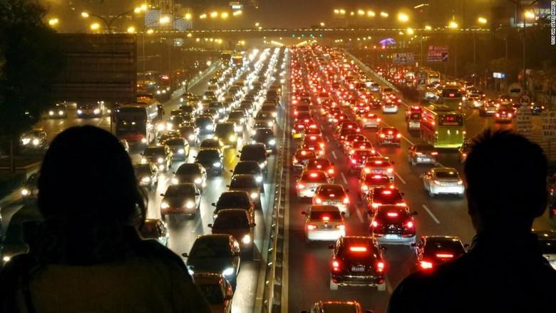 Ilustrasi kemacetan di jalan. Foto: CNN