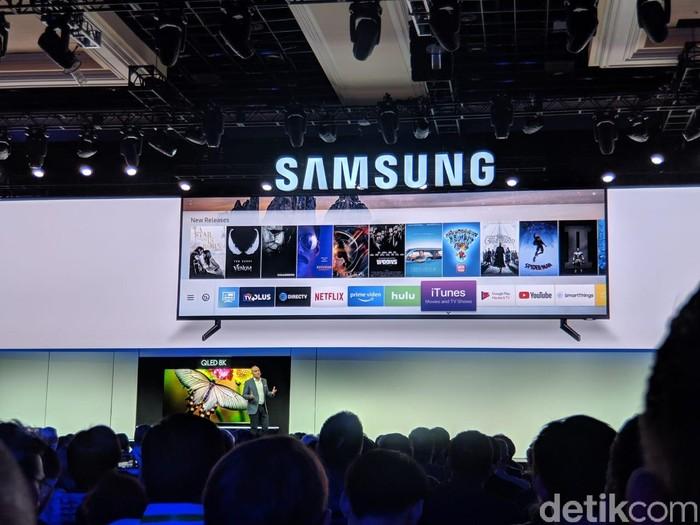 Pengguna Smart TV Samsung bisa menikmati konten di iTunes. Foto: Adi Fida Rahman/detikinet