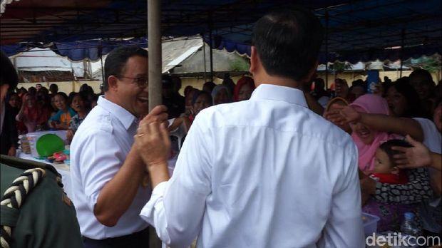 Jokowi dan Anies saat di Tambora, Jakarta Barat