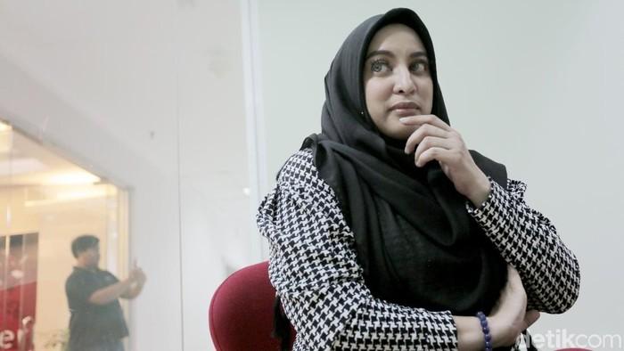 Jane Shalimar saat berkunjung ke kantor detikcom.