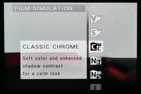 Pilihan film simulation.