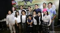 Kimberly Ryder saat ditemui di acara film Koki Cilik di kawasan Kebon Sirih, Jakarta Pusat pada Selasa (8/1).Pool/Palevi S/detikFoto.