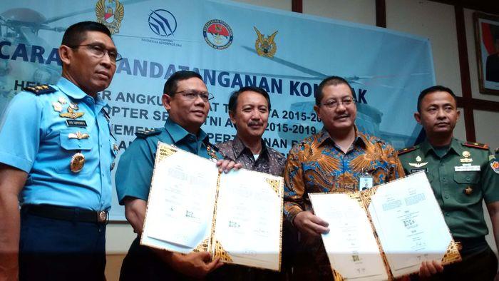 Kementerian Pertahanan (Kemenhan) memesan 17 helikopter untuk memenuhi kebutuhan alat utama sistem persenjataan (Alutsista) TNI. Mochamad Solehudin/detikcom.