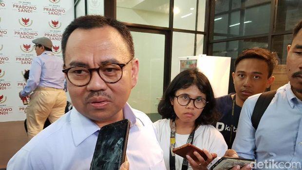 Direktur Materi dan Debat Badan Pemenangan Nasional (BPN) Prabowo-Sandi, Sudirman Said