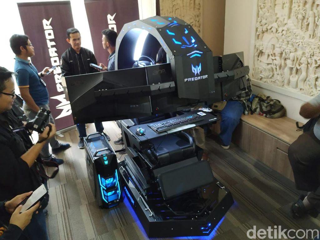 Ini dia Acer Predator Thronos, kursi gaming yang dimaksud. Foto: Agus Tri Haryanto/inet