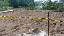 Foto: Gundukan Pasir Diduga Mengandung Limbah Berbahaya di Marunda