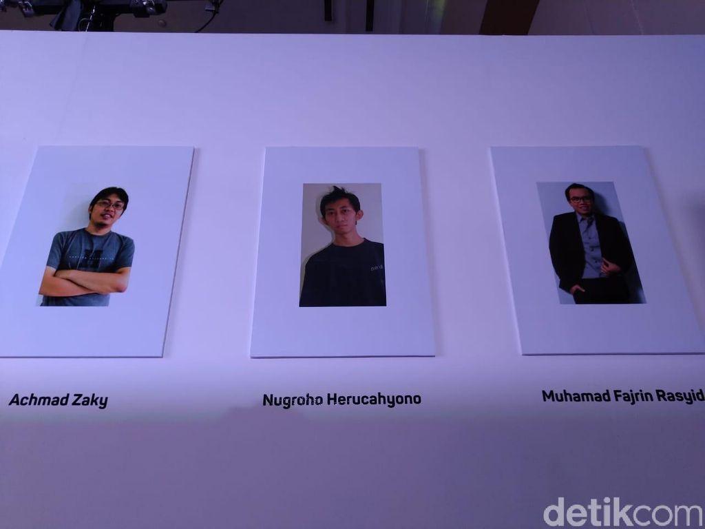 Tiga sosok yang memiliki ide dalam membangun Bukalapak.Foto: Muhamad Imron Rosyadi/detikINET