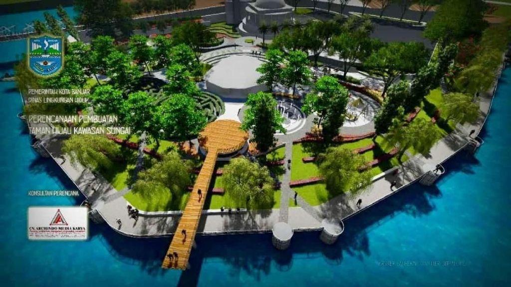 Foto: Calon Taman Kekinian di Banjar