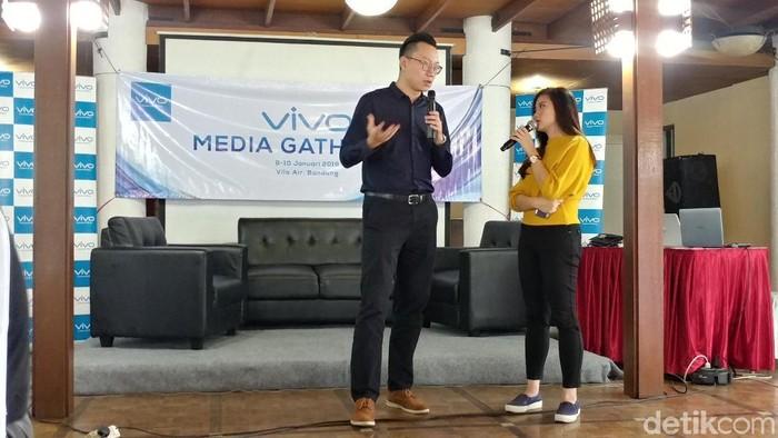 Product Manager Vivo Global Charles Ding bicara soal ponsel 5G dan ponsel layar lipat. (Foto: Tri Ispranoto/detikINET)