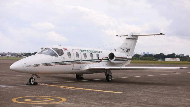 Pesawat kelas VIP Jet Chartered yang dipakai untuk mengantar Ustaz Arifin Ilham ke Malaysia