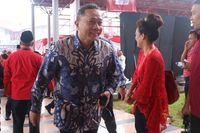 Zulkifli  Hasan di acara Rakornas PDIP.