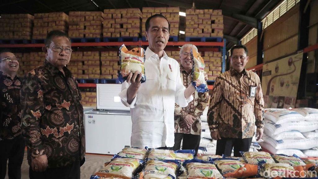Jokowi Pastikan Tak Ada Beras Jelek dari Gudang Bulog