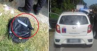 Pemuda Ancam Petugas Polisi Malaysia dengan Pisau.