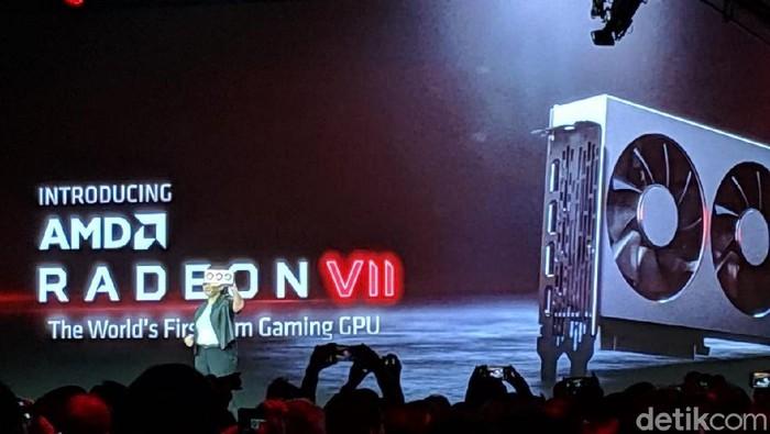 Peluncuran Radeon VII di CES 2019. Foto: Adi Fida Rahman/detikinet