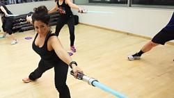 Gym di New York ini bisa jadi tempat olahraga yang cocok bagi para penggemar serial fiksi Star Wars. Kamu bisa berkeringat latihan jadi kesatria galaksi.
