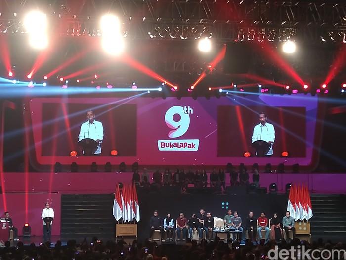 Presiden Jokowi di ultah Bukalapak. Foto: Imron Rosyadi/detikinet