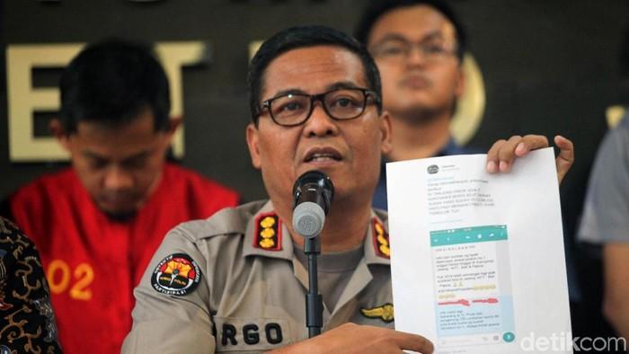Konferensi pers soal hoax surat suara tercoblos. Foto: Lamhot Aritonang/detikcom