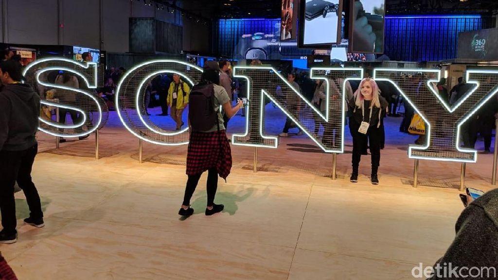 Booth Sony berlokasi di Las Vegas Convention Center. (Foto: Adi Fida Rahman/detikINET)