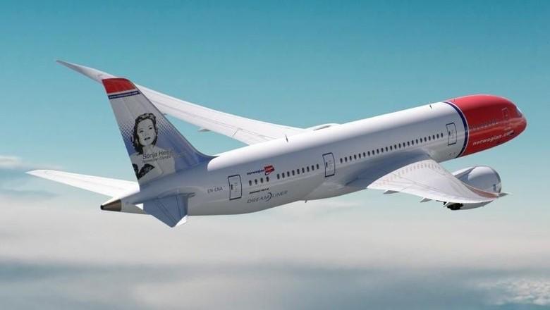 Pesawat maskapai Norwegian Airlines (Norwegian Airlines)