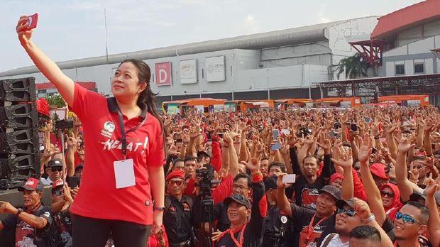Rakornas Hari Kedua, PDIP Senam dan Flashmob 'Jokowi Sekali Lagi'