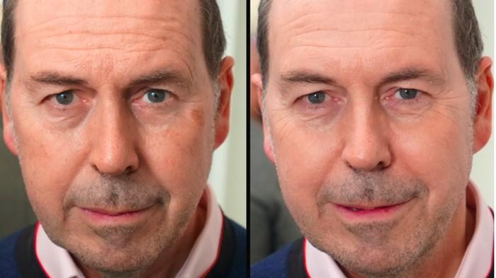 Printer panas lalu akan menembakkan produk tinta khusus ke kulit. Hasilnya seperti memakai makeup instan. (Foto: BBC)