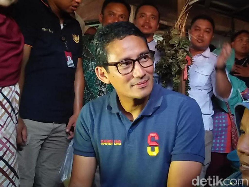 Penjelasan Sandi Ada Foto Gatot di Baliho Prabowo-Sandi