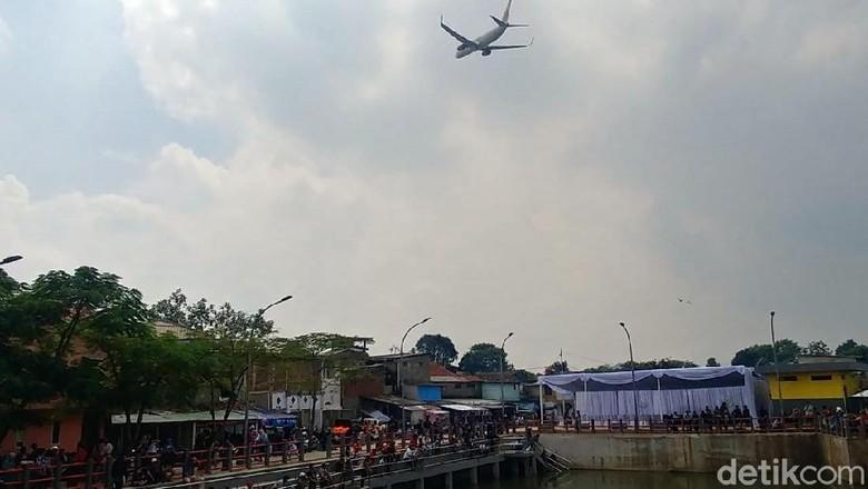 Kolam retensi Sirnaraga, destinasi baru dan gratis di Bandung (Tri Ispranoto/detikTravel)