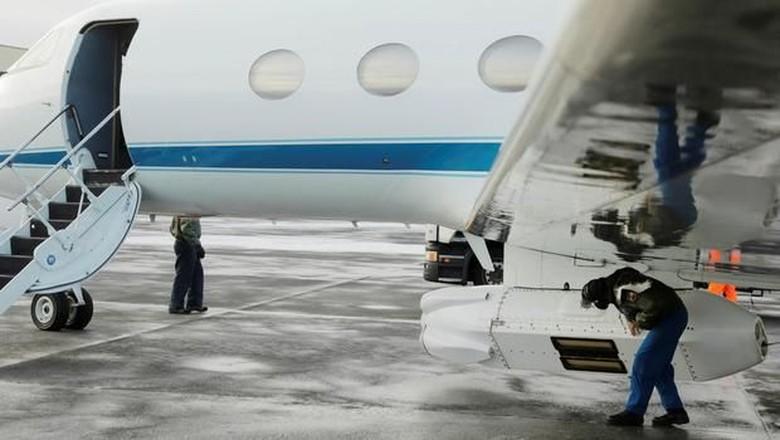 Pesawat jet yang terparkir di Bandara Riyadh (Reuters)