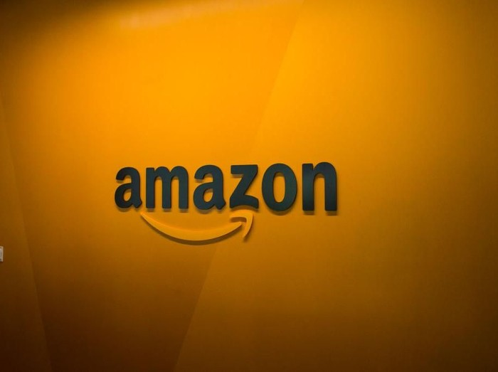 SEATTLE, WA - JUNE 16: An Amazon logo is seen inside the Amazon corporate headquarters on June 16, 2017 in Seattle, Washington. Amazon announced that it will buy Whole Foods Market, Inc. for over $13 billion.  (Photo by David Ryder/Getty Images)