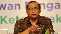 Ketua Dewan Pengawas (Dewas) BPJS Ketenagakerjaan Guntur Witjaksono menggelar jumpa pers di Hotel Kartika Chandra, Jakarta Selatan, Jumat (11/1/2019).