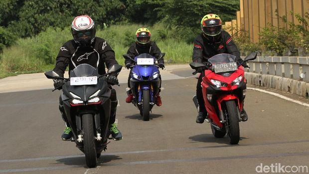 Yamaha R25, Kawasaki Ninja 250 dan Honda CBR250RR