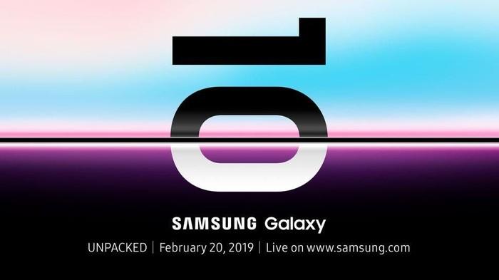 Undangan peluncuran trio Galaxy S10 pada bulan Februari ini. (Foto: The Verge)