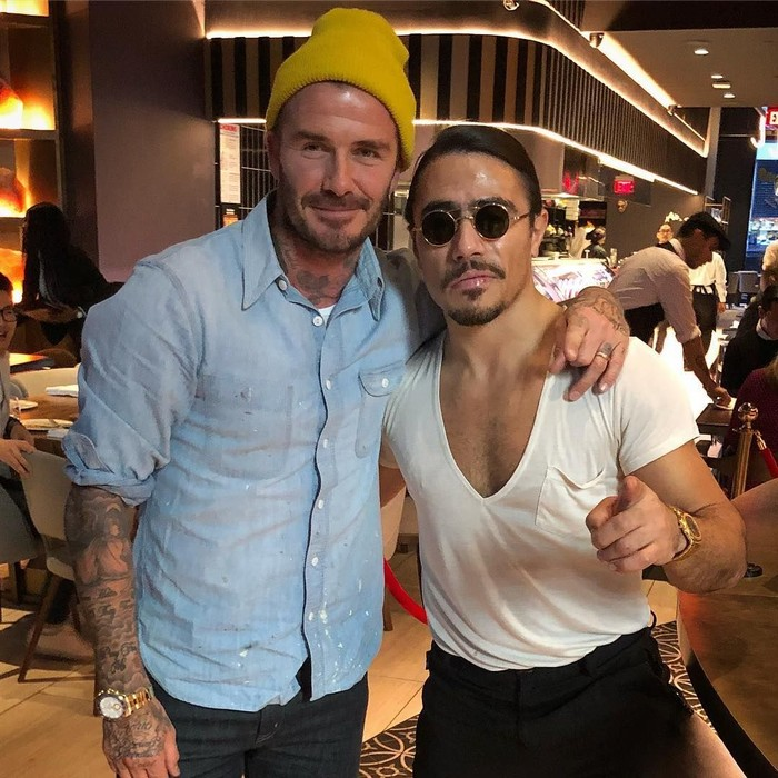 David Beckham pernah berkunjung ke Nust-Et Steakhouse di New York, Amerika Serikat pada awal Februari 2018. Ia datang bersama keluarganya. Foto: Instagram nust_et