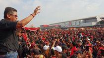 Rakornas Hari Kedua, Kader PDIP Senam dan Flashmob Jokowi Sekali Lagi